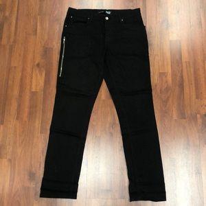 Black Jeans w side zipper detail (local CA brand)